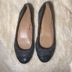Grey and black Coach ballet flats size 11